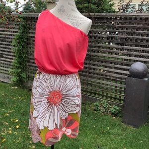 Judith March one shoulder dress EUC